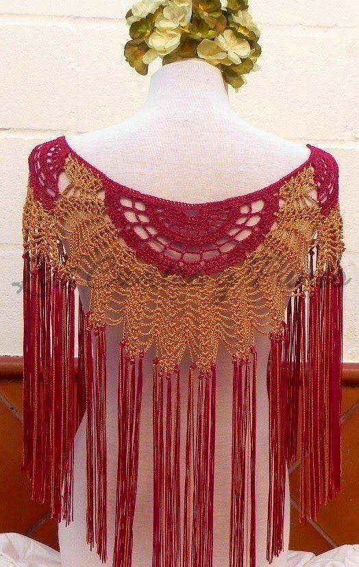 Mantillas andaluzas hechas en crochet