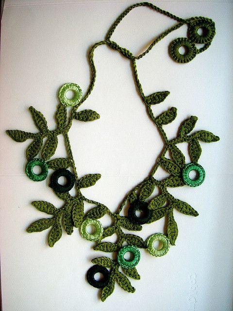 collares dignos de la madre naturaleza en crochet
