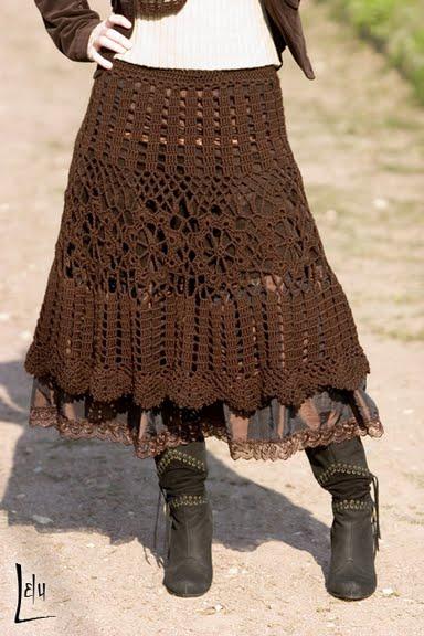 falda larga ganchillo