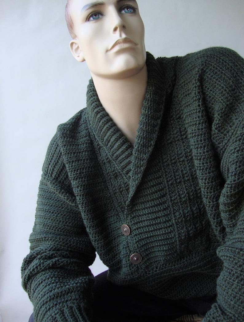 10 Jerseys de caballero en crochet