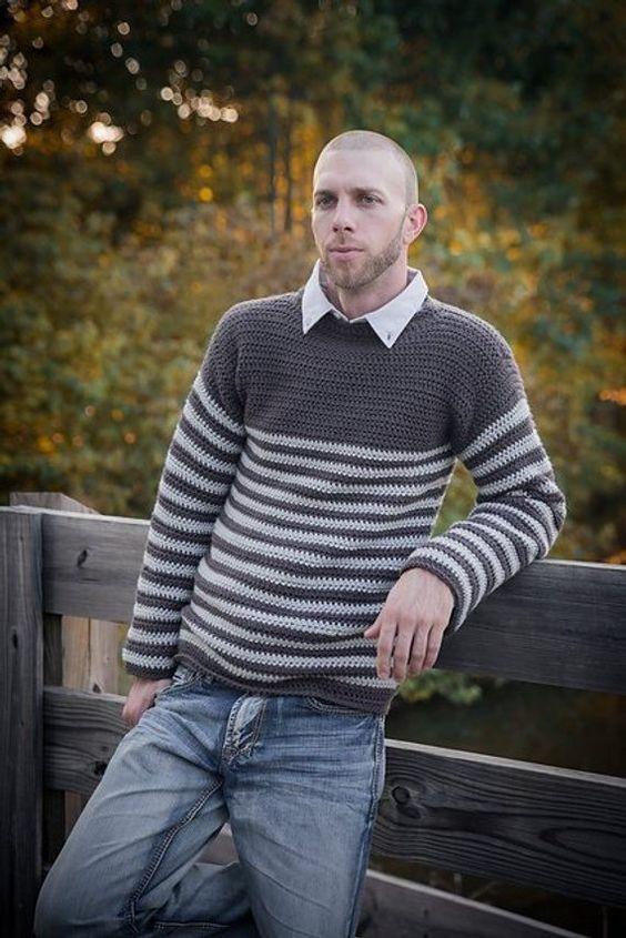 ropa hombre crochet