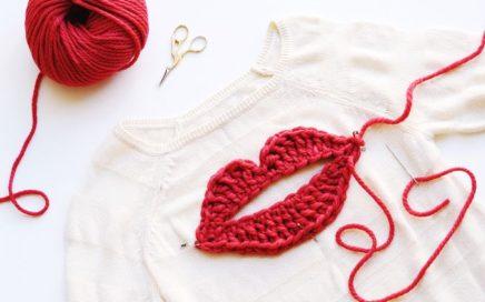 20 Prendas con apliques en crochet