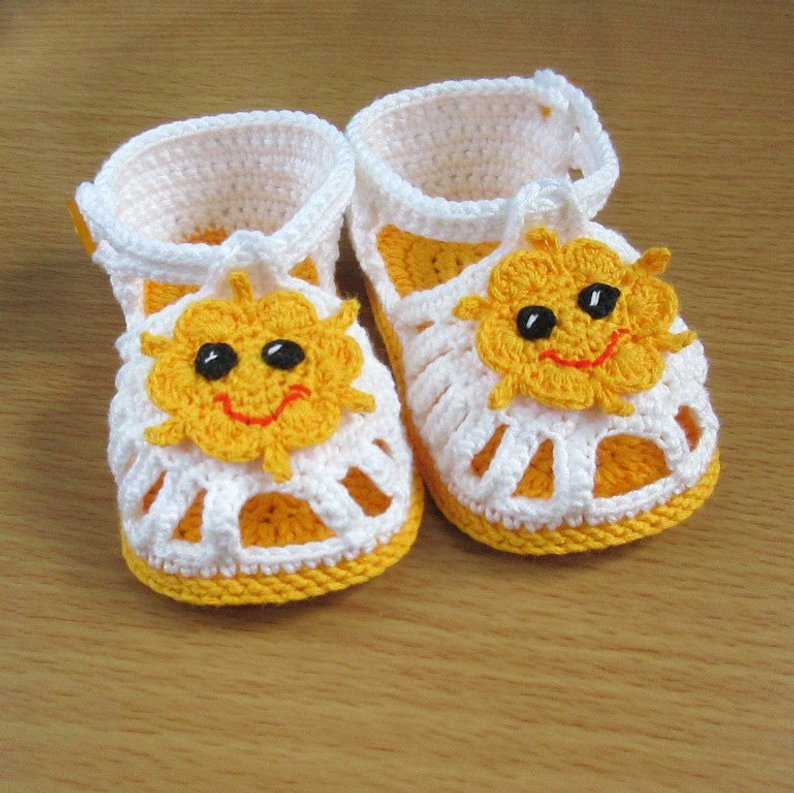 20 Sandalias para Bebé (niño) en crochet