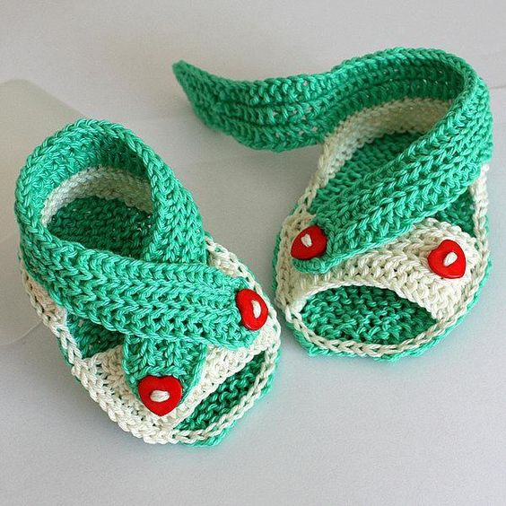 calzado bebé crochet