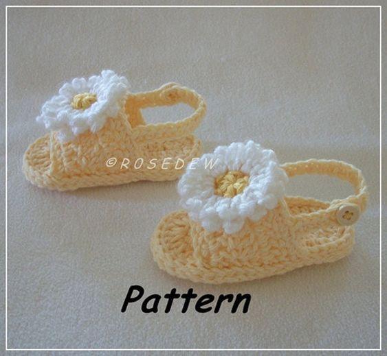 calzado bebé verano crochet